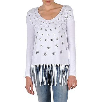 textil Dame Langærmede T-shirts Manoush TUNIQUE LIANE Hvid