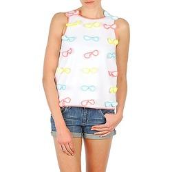 textil Dame Toppe / T-shirts uden ærmer Manoush TOP NOEUD NOEUD Hvid