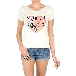 textil Dame T-shirts m. korte ærmer Manoush TEE SHIRT VALENTINE Beige