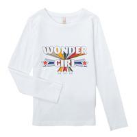 textil Pige Langærmede T-shirts Only KONTINNA Hvid