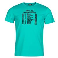 textil Herre T-shirts m. korte ærmer Diesel T-DIEGOS Blå