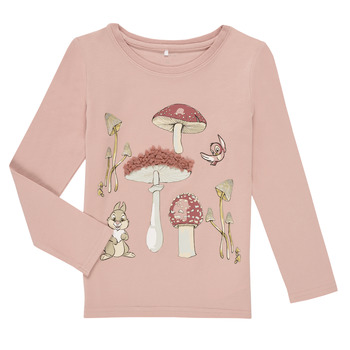 textil Pige Langærmede T-shirts Name it NMFTHUMPER ALFRIDA LS TOP Violet