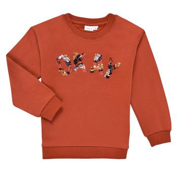 textil Pige Sweatshirts Name it NKFOCALI LS SWEAT Rød