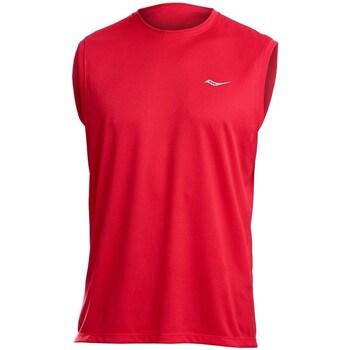 textil Herre Toppe / T-shirts uden ærmer Saucony SAM800216 Rød