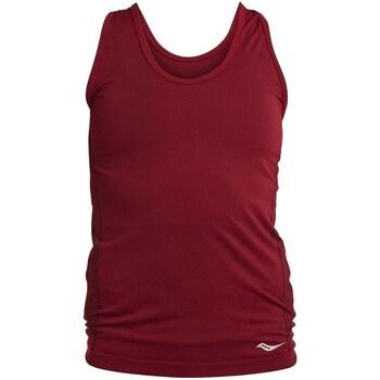 textil Dame Toppe / T-shirts uden ærmer Saucony SAW800099 Bordeaux