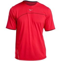 textil Herre T-shirts m. korte ærmer Saucony SAM800214 Rød