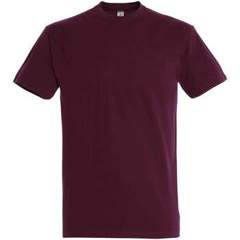 textil Dame T-shirts m. korte ærmer Sols IMPERIAL camiseta color burdeos Burdeo
