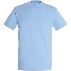 textil Dame T-shirts m. korte ærmer Sols IMPERIAL camiseta color Azul Cielo Azul