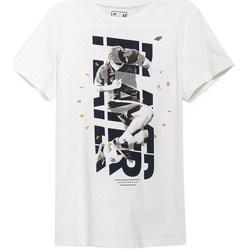 textil Herre T-shirts m. korte ærmer 4F TSM011 Hvid