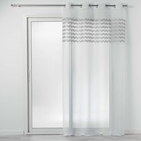 Indretning Tynde gardiner Douceur d intérieur SANDINA Hvid / Grå