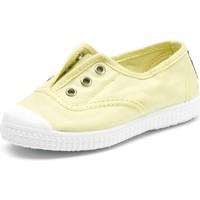 Sko Børn Tennissko Cienta Chaussures en toiles bébé  Tintado jaune pastel