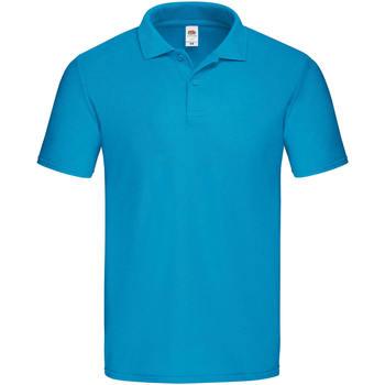 textil Herre Polo-t-shirts m. korte ærmer Fruit Of The Loom SS229 Azure