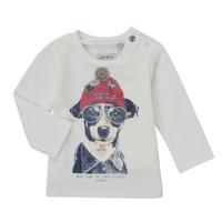 textil Dreng Langærmede T-shirts Ikks AUBERGINE Hvid