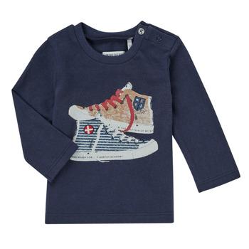 textil Dreng Langærmede T-shirts Ikks AURORE Marineblå