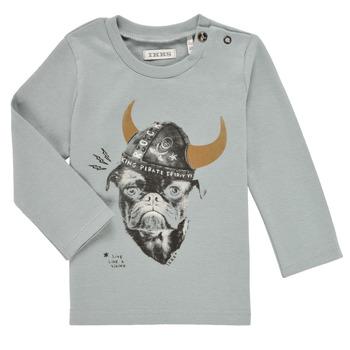 textil Dreng Langærmede T-shirts Ikks CHAUDRON Blå