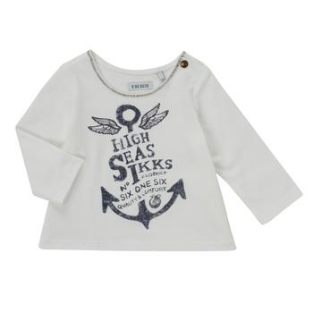 textil Pige Langærmede T-shirts Ikks CHOCOLAT Hvid