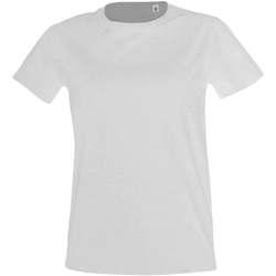 textil Dame T-shirts m. korte ærmer Sols Camiseta IMPERIAL FIT color Blanco Blanco
