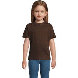 textil Børn T-shirts m. korte ærmer Sols Camista infantil color chocolate Marrón
