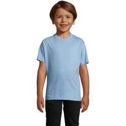 textil Børn T-shirts m. korte ærmer Sols Camista infantil color Azul cielo Azul