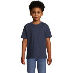 textil Børn T-shirts m. korte ærmer Sols Camista infantil color French Marino Azul