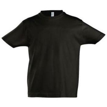 textil Børn T-shirts m. korte ærmer Sols Camista infantil color Negro profundo Negro