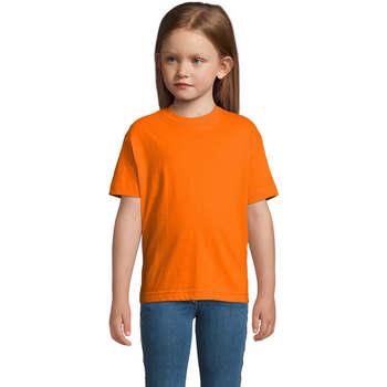 textil Børn T-shirts m. korte ærmer Sols Camista infantil color Naranja Naranja