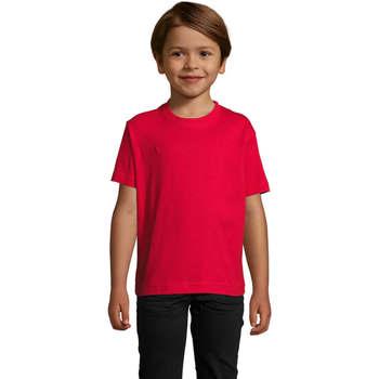 textil Børn T-shirts m. korte ærmer Sols Camista infantil color Rojo Rojo
