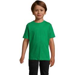 textil Børn T-shirts m. korte ærmer Sols Camista infantil color Verde Pradera Verde