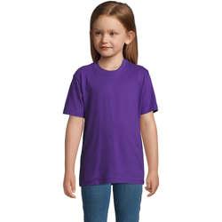 textil Børn T-shirts m. korte ærmer Sols Camista infantil color Morado Violeta