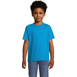 textil Børn T-shirts m. korte ærmer Sols Camista infantil color Aqua Azul