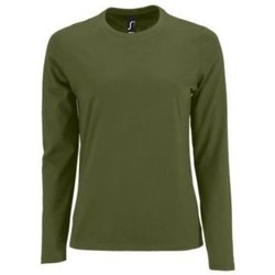 textil Dame Langærmede T-shirts Sols Camiseta imperial Women Kaki