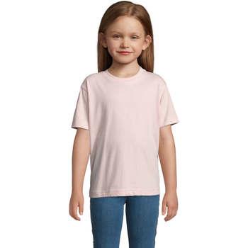 textil Børn T-shirts m. korte ærmer Sols Camista infantil color Rosa médio Rosa