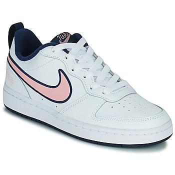 Sko Børn Lave sneakers Nike COURT BOROUGH LOW 2 SE1 (GS) Hvid / Pink