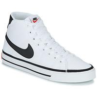 Sko Herre Høje sneakers Nike NIKE COURT LEGACY CNVS MID Hvid / Sort