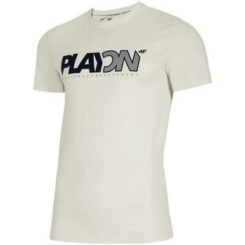 textil Herre T-shirts m. korte ærmer 4F TSM013 Hvid