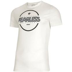 textil Herre T-shirts m. korte ærmer 4F TSM015 Hvid