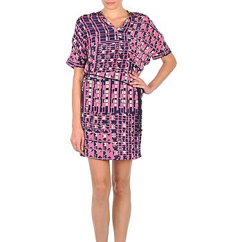 textil Dame Korte kjoler Stella Forest YRO059 Marineblå / Pink