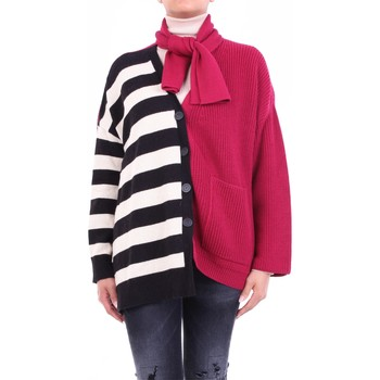 textil Dame Veste / Cardigans Semicouture W0SS0WG06 Bordeaux and black