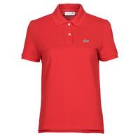 textil Dame Polo-t-shirts m. korte ærmer Lacoste POLO REGULAR FIT PF7839 Rød