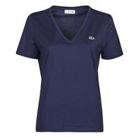 textil Dame T-shirts m. korte ærmer Lacoste LOUIS Marineblå