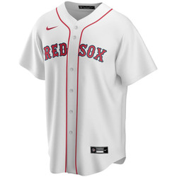 textil Herre T-shirts m. korte ærmer Nike Maillot Official Replica Boston Red Sox blanc/rouge