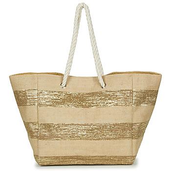 Tasker Dame Shopping Betty London  Beige / Gylden