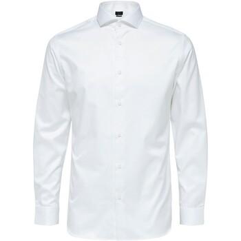 textil Herre Skjorter m. lange ærmer Selected Chemise  Sel-pelle manches longues slim bright white