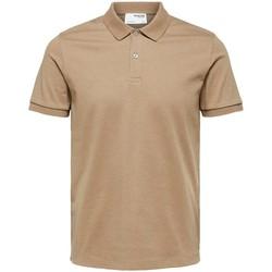 textil Herre Polo-t-shirts m. korte ærmer Selected Polo manches courtes  Paris kelp melange