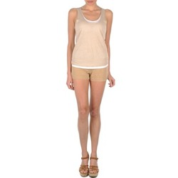 textil Dame Shorts Majestic SOLENE Beige