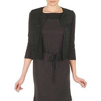 textil Dame Veste / Cardigans Majestic BERENICE Sort