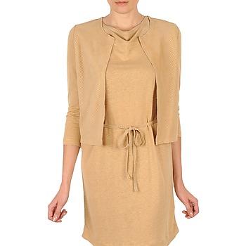 textil Dame Veste / Cardigans Majestic BERENICE Beige