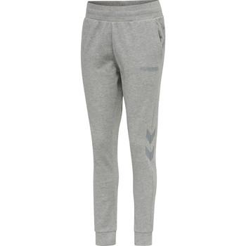 textil Dame Træningsbukser Hummel Pantalon femme  hmlLEGACY tapered gris