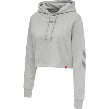 textil Dame Sweatshirts Hummel Sweatshirt à capuche femme  hmlLEGACY cropped gris