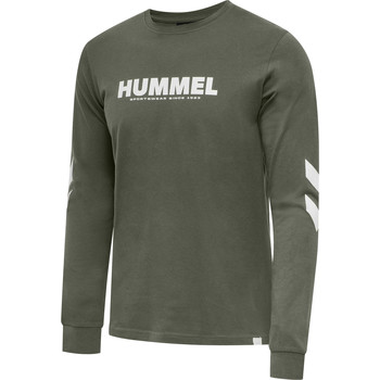 textil Herre Langærmede T-shirts Hummel T-shirt manches longues  hmlLEGACY vert kaki/blanc